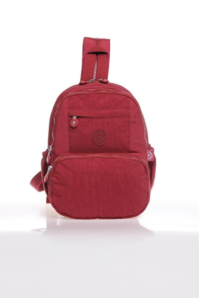 SMART BAGS Smb1083-0021 Bordo Kadın Küçük Sırt Çantası