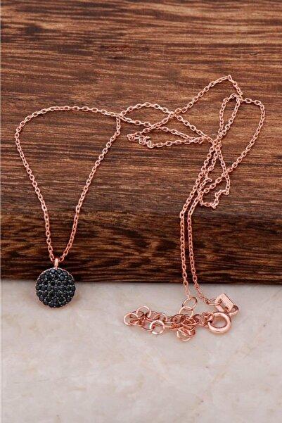 Sümer Telkari Safir Taşlı Mini Rose Gümüş Kolye 6480