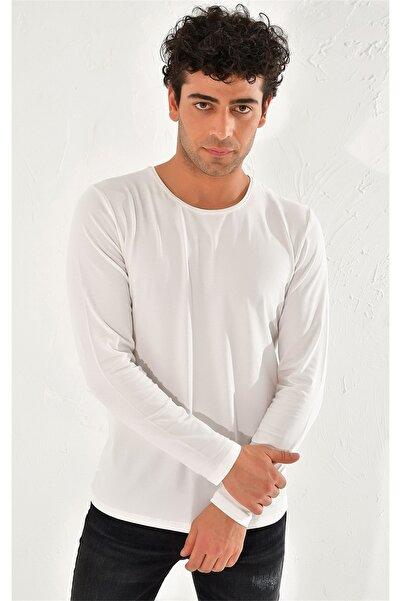 Efor Ts 754 Slim Fit Ekru Spor T-shirt
