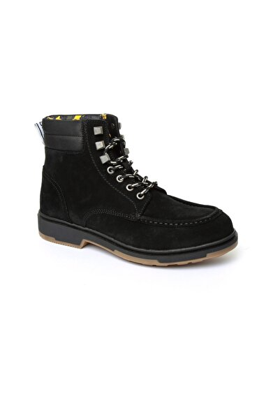 Tommy Hilfiger Siyah Erkek Outdoor Bot Em0em00171 990 Tommy Hılfıger Casual Outdoor Lace Up Boot Bla