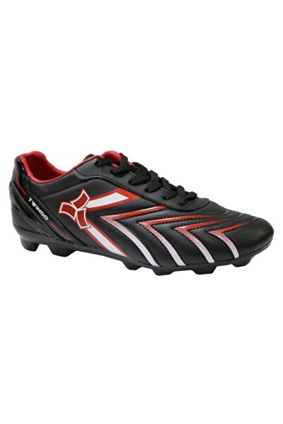 Twingo 0270 Siyah-kırmızı Krampon Çim Saha Erkek Futbol Ayakkabı