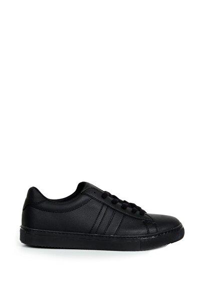Collezione Siyah Yan Parça Dikiş Detaylı Bağcıklı Erkek Sneaker