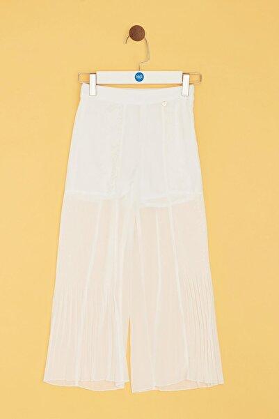 Tyess Kız Çocuk Beyaz Pantolon