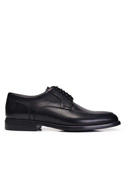 Nevzat Onay Hakiki Deri Siyah Günlük Bağcıklı Erkek Ayakkabı -11284-
