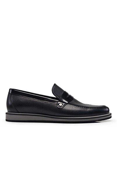 Nevzat Onay Hakiki Deri Siyah Günlük Loafer Erkek Ayakkabı -11126-