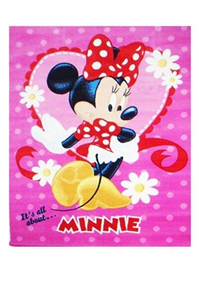 Kaşmir Çocuk Halısı Minnie Desen Kaymaz Taban Dokuma 133x185 Cm