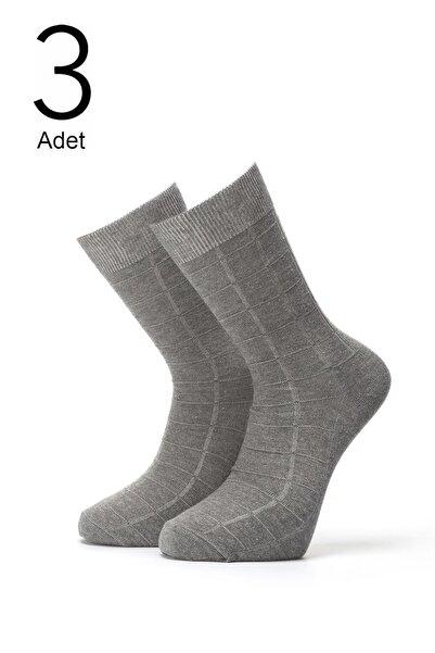 ORBİS 3'lü Erkek Kendinden Desenli Çorap 4414-a3