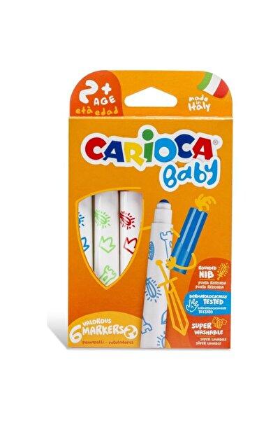 Yerli Carioca 42813 Jumbo Yıkanabilir Keçeli Boya Kalemi Bebek Süper 6 Lı