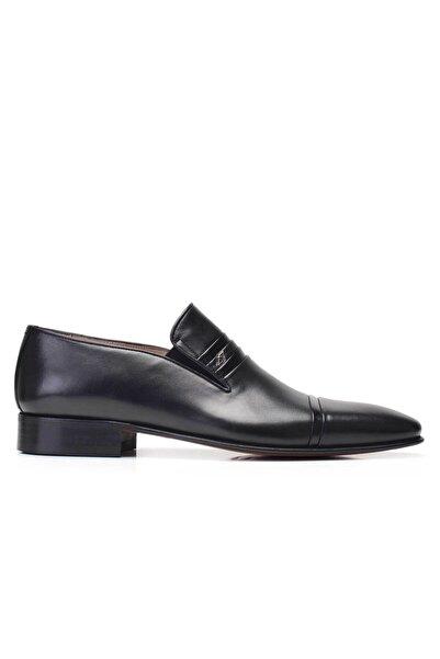 Nevzat Onay Hakiki Deri Siyah Klasik Loafer Kösele Erkek Ayakkabı -7530-