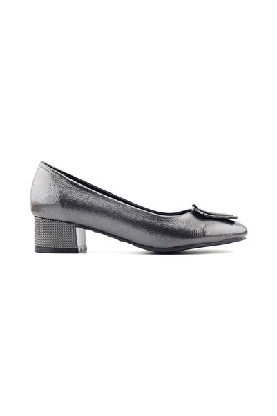 PUNTO 544811 Kadın Topuklu Ayakkabı-platin