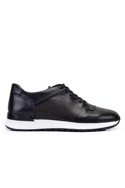 Nevzat Onay Hakiki Deri Siyah Sneaker Erkek Ayakkabı -11618-