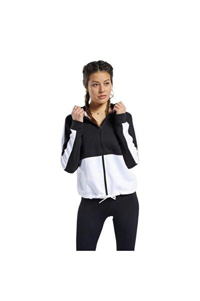 Reebok Fu2204 Te Linear Kadın Siyah Beyaz Sweat