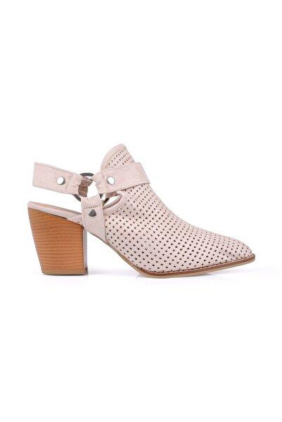 Oblavion Rosa Bej Topuklu Ayakkabı