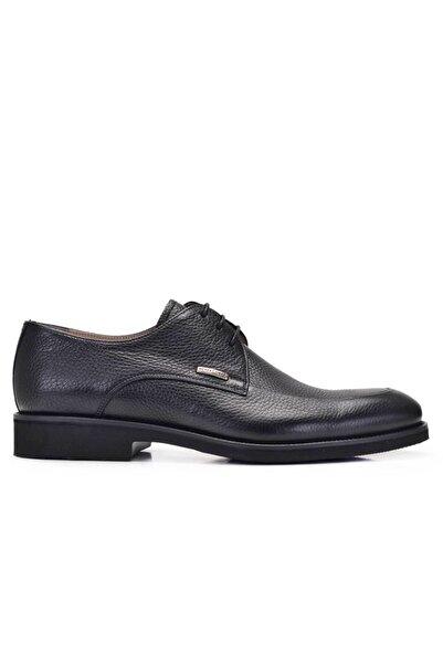 Nevzat Onay Hakiki Deri Siyah Günlük Bağcıklı Erkek Ayakkabı -10779-