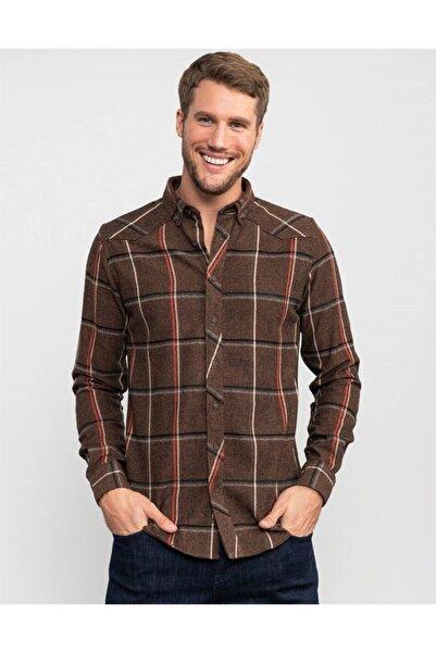 Tudors Slim Fit Kışlık Kareli Erkek Gömlek