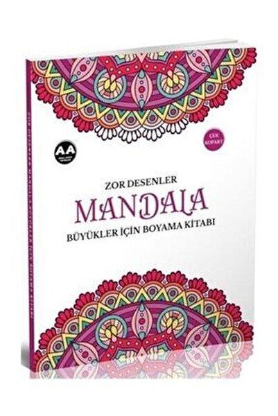 Mandala Zor Desenler Büyükler Için Boyama Kitabı