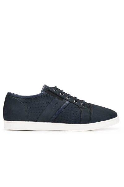 Nevzat Onay Hakiki Deri Lacivert Sneaker Erkek Ayakkabı -11551-