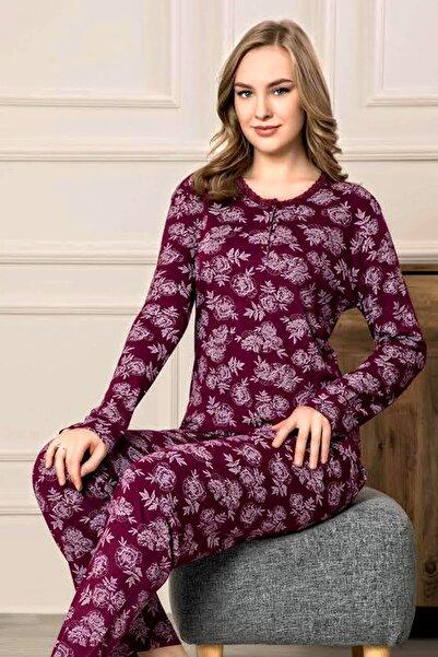 Manolya Viscon Kaliteli Mevsimlik Bayan Penye Pijama Takımı