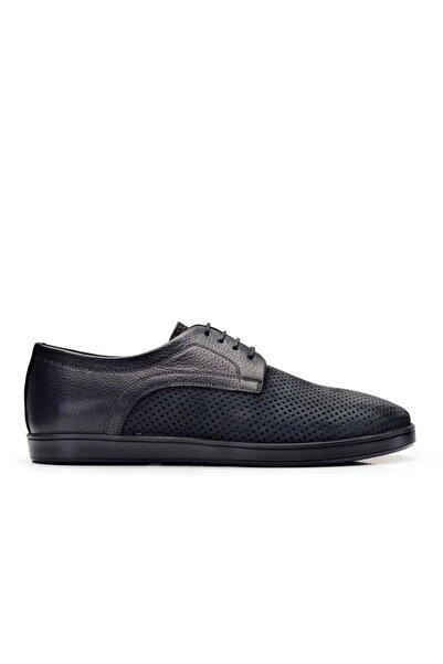 Nevzat Onay Hakiki Deri Siyah Sneaker Erkek Ayakkabı -11075-
