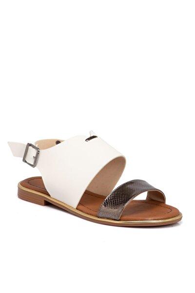 Tergan Beyaz Vegan Kadın Sandalet 210026d93