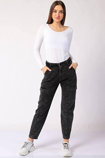 Twister Jeans Kadın Pantolon Bp 9378-01 Sıyah
