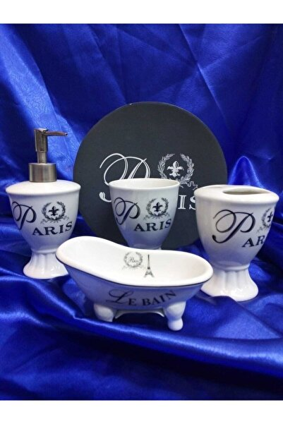 çerçi Paris 4 Parça Porselen Banyo Seti