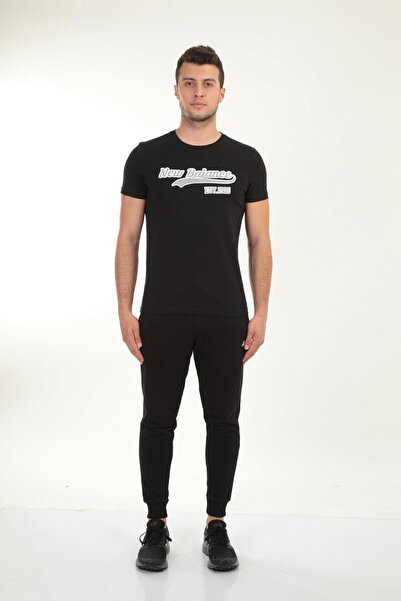 New Balance Siyah Erkek T-shirt Mpt027-bk