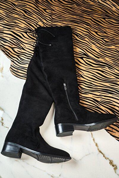 Bambi Siyah Kadın Çizme K06401653