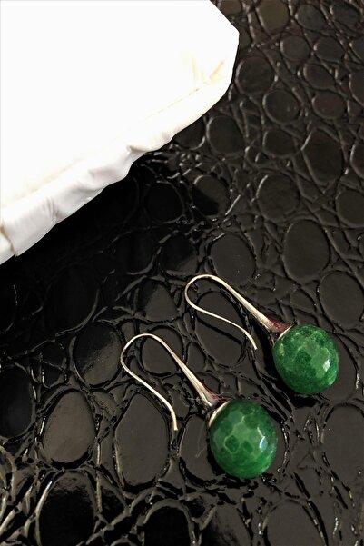 Dr. Stone Dr Stone Doğaltaş El Yapımı Jade Taşı Küpe Ahl118