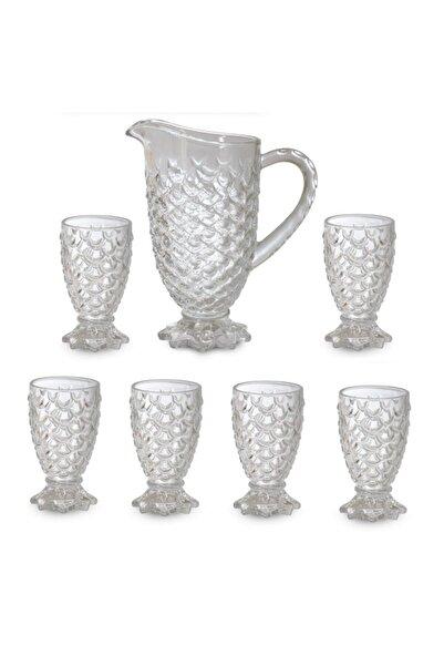 Emr züccaciye Emr Kristal Cam 7 Li Su Takımı - Su Bardağı Sürahi Seti