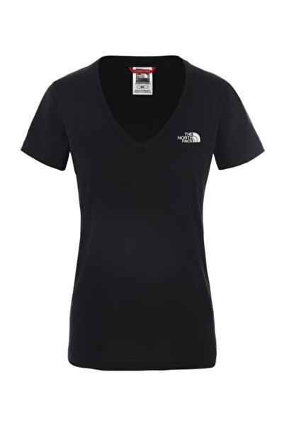 THE NORTH FACE W S/s Simple Dome Tee Kadın Kısa Kollu Tişört Siyah