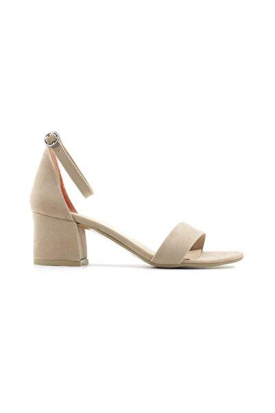 PUNTO 462059 Kadın Topuklu Ayakkabı-ten Süet