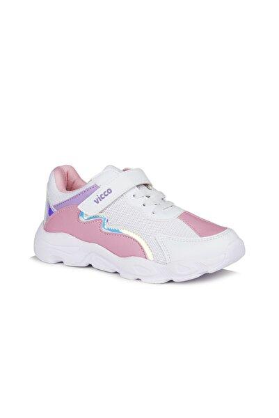 Vicco Neon Kız Çocuk Beyaz/pembe Spor Ayakkabı