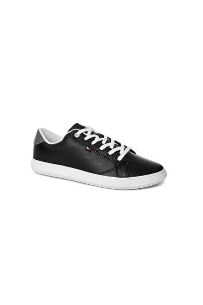 Tommy Hilfiger Siyah Erkek Oxford/ayakkabı Fm0fm01987 990 Essentıal Leather Cupsole Low Cut Black