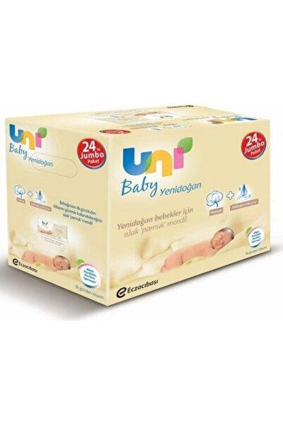 Uni Baby Yenidoğan Islak Pamuk Mendil 24'lü Unibaby Fırsat Paketi / 960 Yaprak