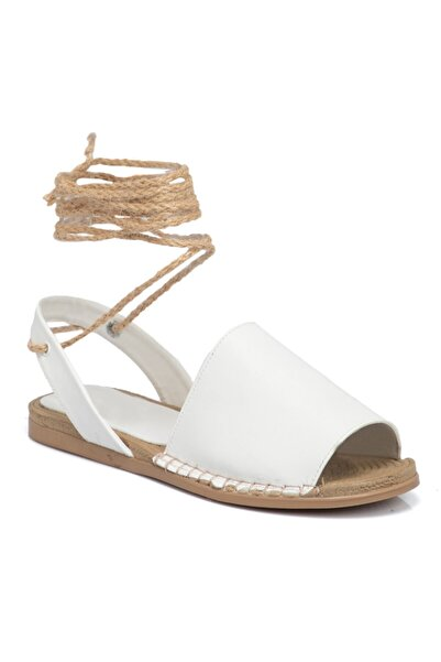 Tergan Beyaz Vegan Kadın Sandalet 210113d93