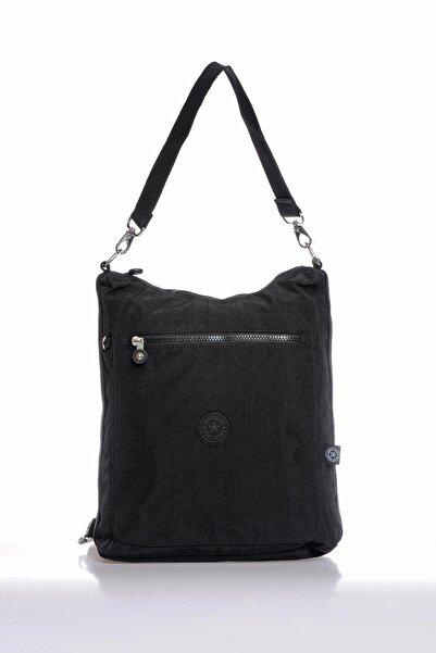SMART BAGS Smb3069-0001 Siyah Kadın Omuz Ve Sırt Çantası