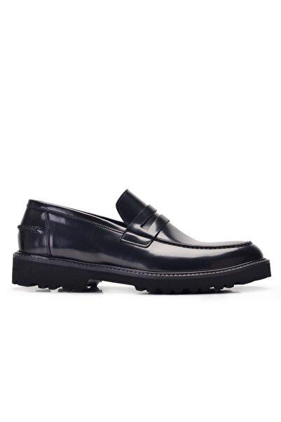 Nevzat Onay Hakiki Deri Siyah Günlük Loafer Erkek Ayakkabı -11922-