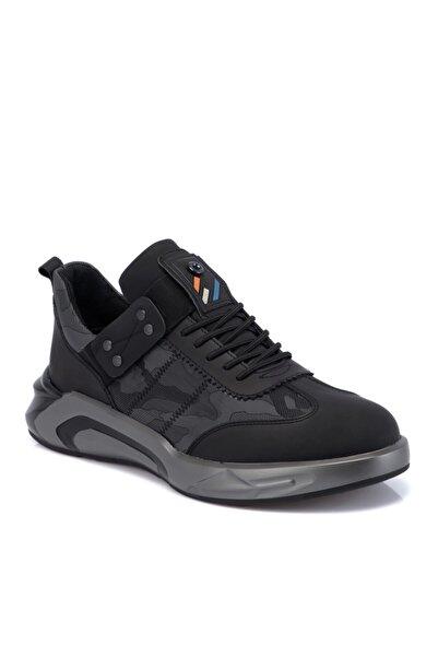 Tergan Siyah Deri-tekstil Erkek Ayakkabı 54905ı46