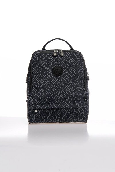 SMART BAGS Smbky1117-0091 Puanlı Siyah Kadın Sırt Çantası