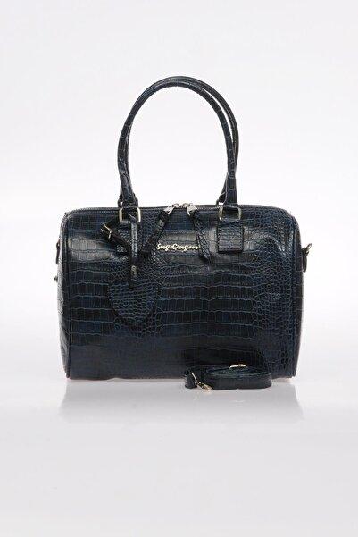 Sergio Giorgianni Luxury Sg1082019-7 Lacivert Kadın Omuz Çantası