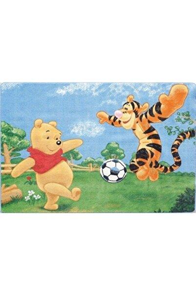 Kaşmir Çocuk Halısı Winne The Pooh Tiger 13 Kaymaz Tabanlı Dokuma 133x185 Cm