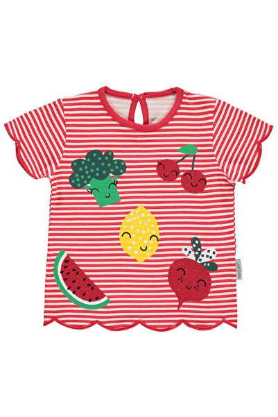 Kujju Kız Bebek Tişört 6-18 Ay Fuşya