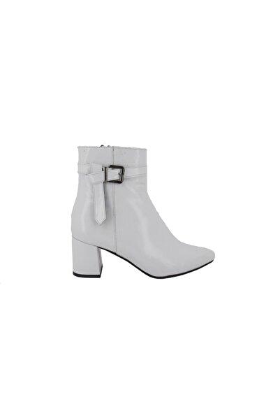 Hobby Beyaz Rugan Topuklu Günlük Kadın Bot 751