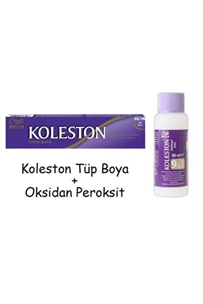 Koleston Tüp Boya 50 ml - 66.46 Aşk Alevi + 30 Vol Oksidan Peroksit