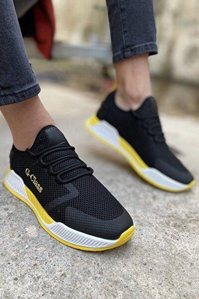 Arlin Erkek File Detaylı Bağcıklı 05-siyah Anorak Spor Ayakkabı
