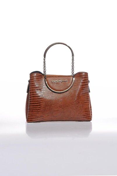Sergio Giorgianni Luxury Sg0715 Taba Kadın Omuz Çantası
