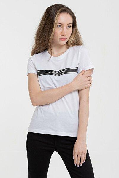 Calvin Klein Kadın Slim Fit T-shirt