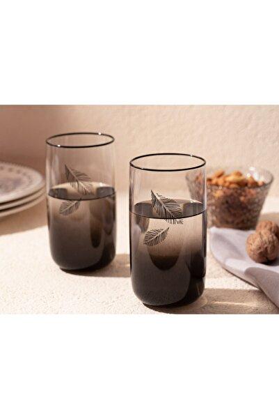 English Home Dena Cam 3'lü Meşrubat Bardağı 365 Ml Siyah