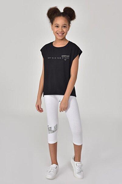 bilcee Siyah Kız Çocuk T-shirt Gs-8158
